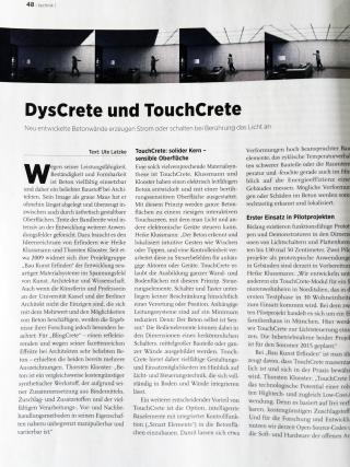 Deutsches Architektenblatt DysCrete TouchCrete 01