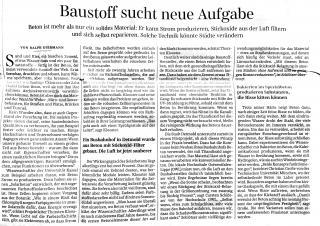Süddeutsche Zeitung - Baustoff sucht neue Aufgabe